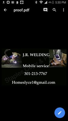 Avatar for J.R. Welding llc 301213seventy7sixty7 Beltsville, MD Thumbtack