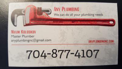 Avatar for Any Plumbing Matthews, NC Thumbtack