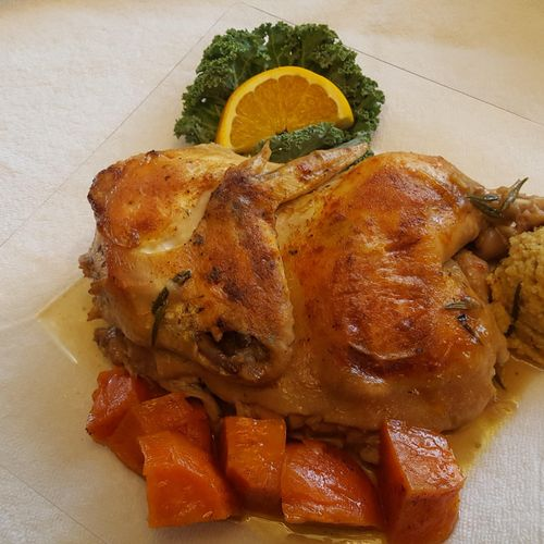 Baked Chicken and Sweet Potatoes