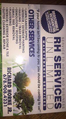 Avatar for RH Services Unlimited, LLC Buford, GA Thumbtack
