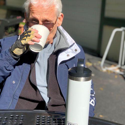 Hot tea on brisk day