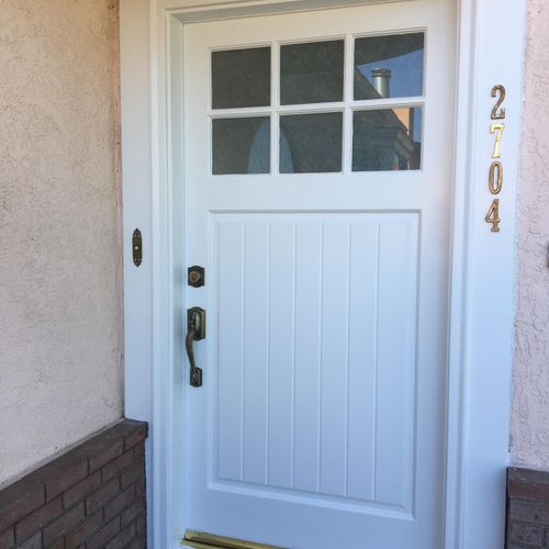 This was a custom made door for a non traditional door opening.