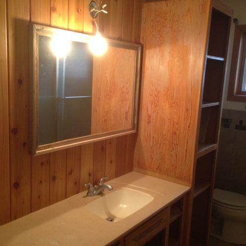 Bathroom Remodel Walls,Tile,sink, Vanity,Toilet, Etc.