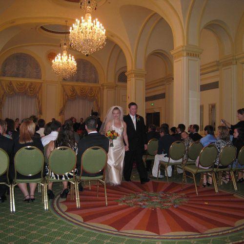 Wedding at Omni-Sheraton downtown Indianapolis