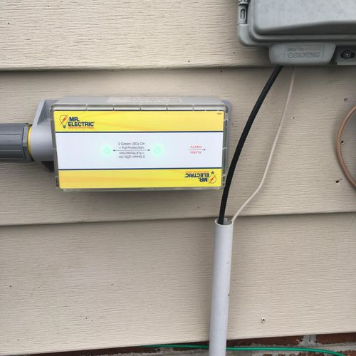 Surge Suppressor installed in Jan of 2017. Is your home protected?