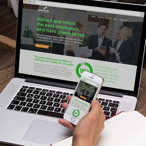 Responsive landing pages for B2B marketing for greencents™