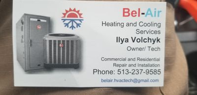 Avatar for Bel-Air Heating and Cooling Maineville, OH Thumbtack