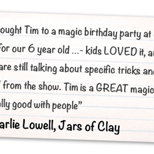 Review by rockstar Charlie Lowell from the hit band Jars of Clay - find his full review in my reviews below!...