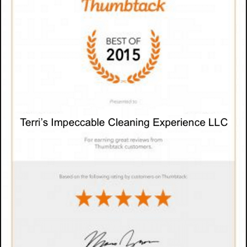 2015 BEST CLEANING COMPANY AWARD