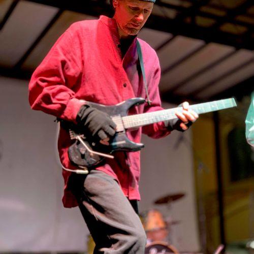 A Guitarist in Red