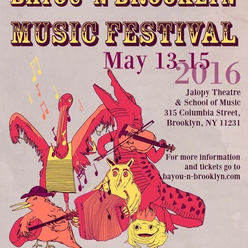 Bayou 'n Brooklyn Music Festival Illustration & Design