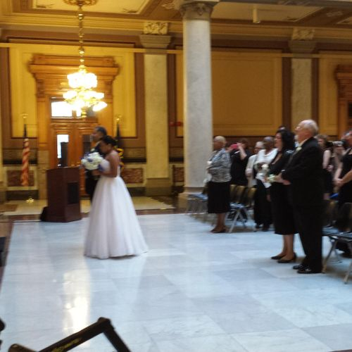 Wedding at Indiana State House, Indianapolis.