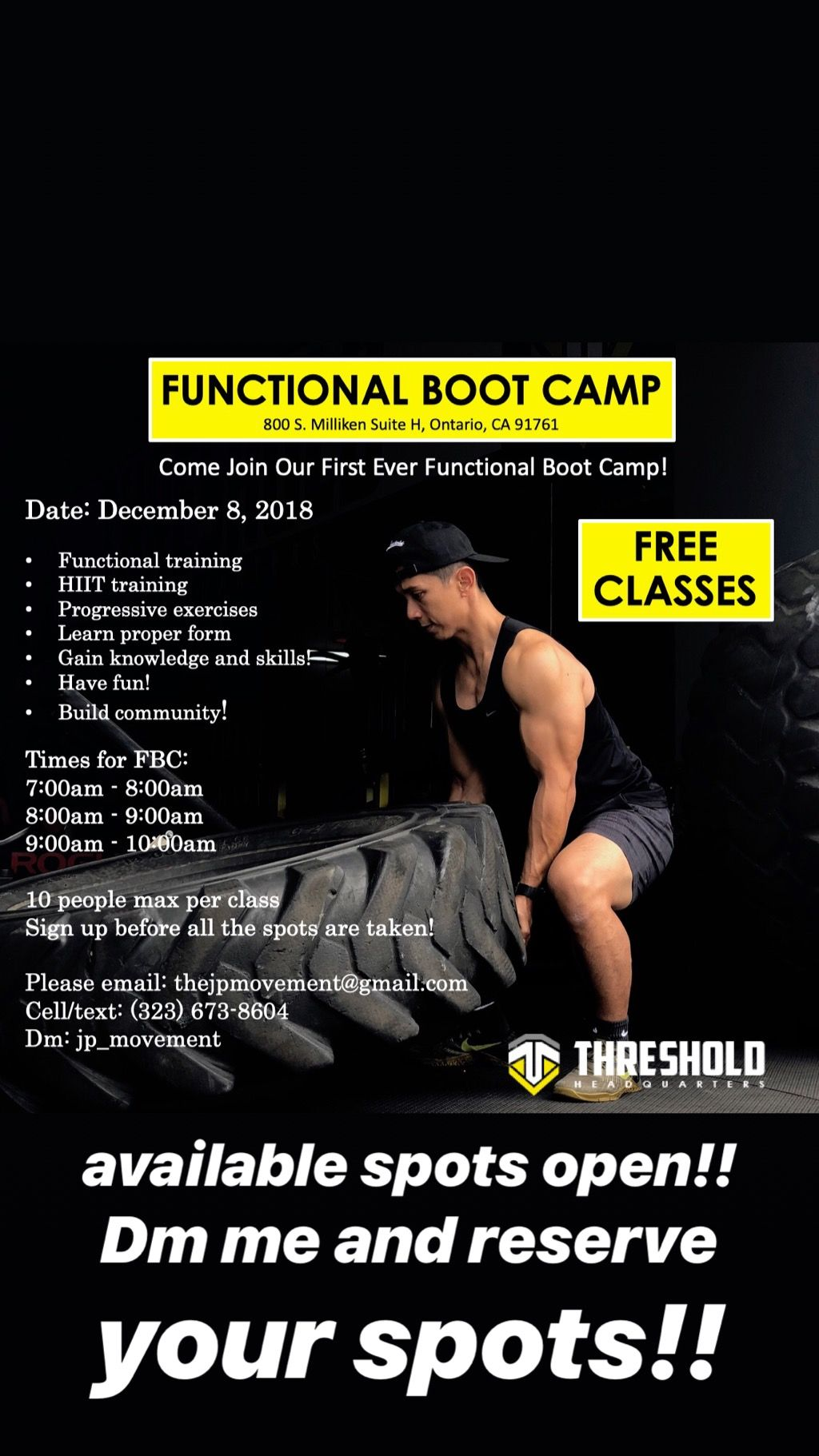 Functional boot camp