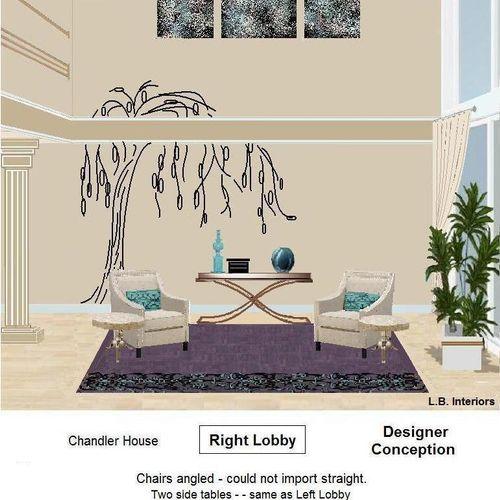 Design Rendering. Rightn Lobby Chandler Building, Sherman Oaks, Ca.