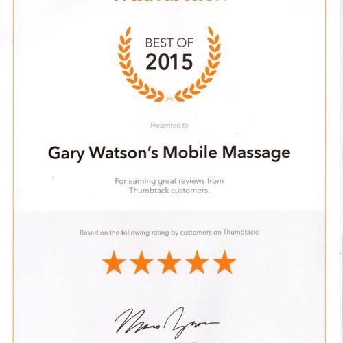I earned this achievement last year thru Thumbtack