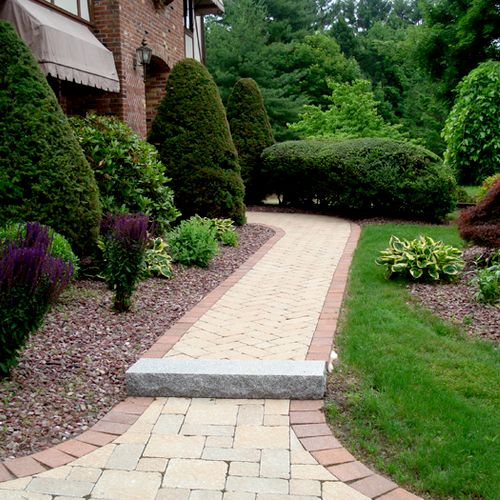 Walkway to Driveway & Landscaping