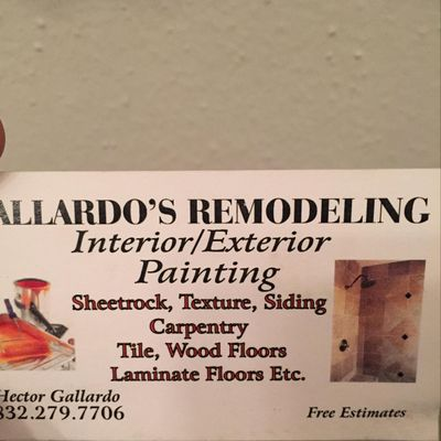 Avatar for GALLARDO REMODELING