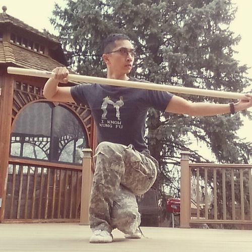 The Shaolin Staff helps build upper body strength, especially the shoulders, arms, and hands