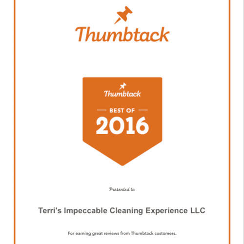 2016 BEST CLEANING COMPANY AWARD