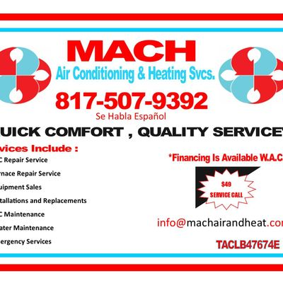 Avatar for MACH A/C & HEATING Fort Worth, TX Thumbtack
