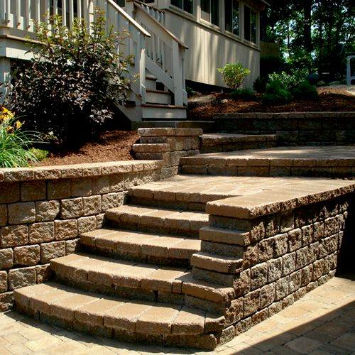 Stairs, Walls & Driveway