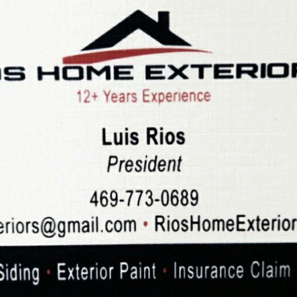 Rios Home Exteriors and Restorations