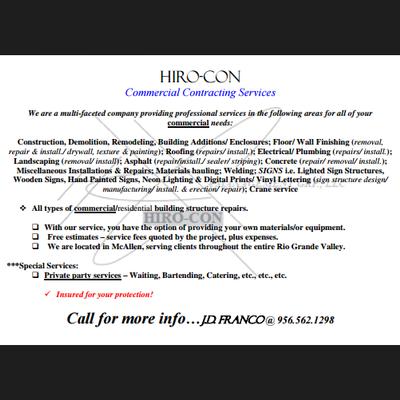 Avatar for HIRO - CON Mcallen, TX Thumbtack
