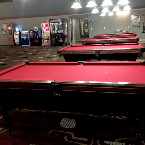 A job well done - multiple pool tables