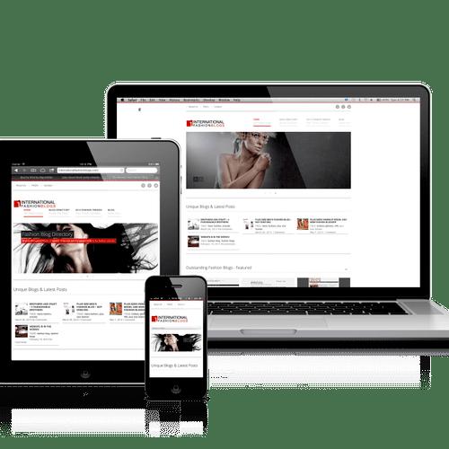 International Fashion Blogs Responsive Website Design using WordPress