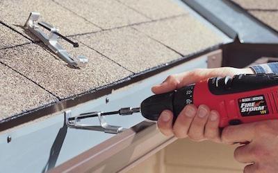 Re-securing old or damaged gutters.