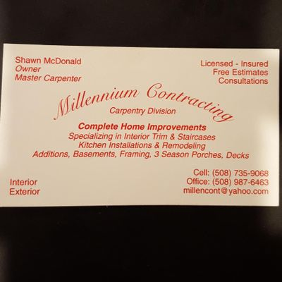 Avatar for Millennium contracting North Oxford, MA Thumbtack