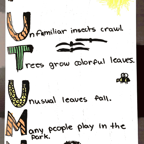 This is a poem that my 4th-grade student wrote.  She used it for her first blogging experience.