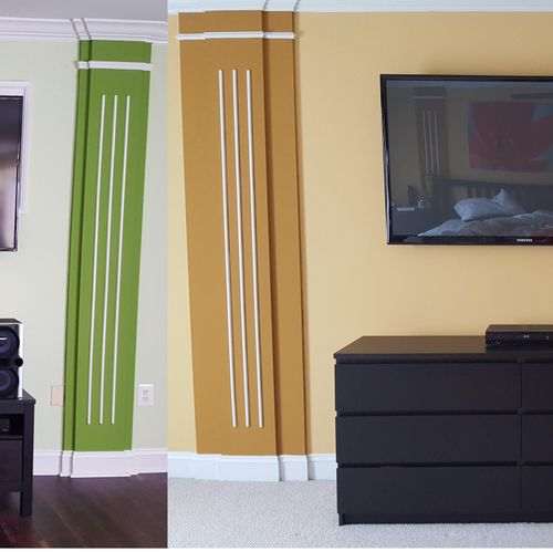Gone are the days of bulky entertainment centers. We'll install your system properly and neat.