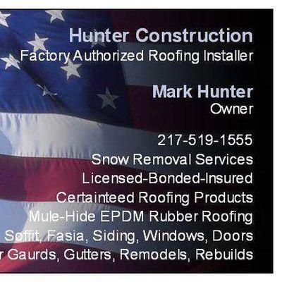 Avatar for Hunter Construction Decatur, IL Thumbtack