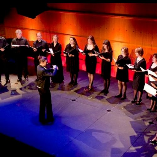 With the Istochnik Choir at Orange County Performing Arts Center. (Third from left.)