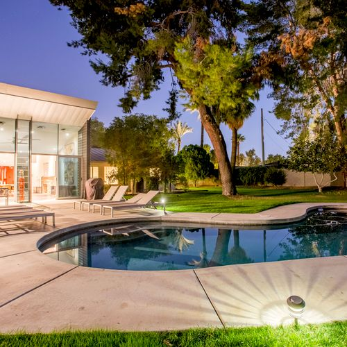 Heated pools and vacation homes.
