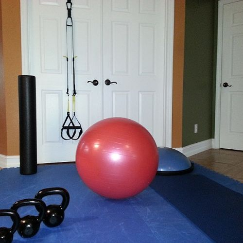 Picture of an In-home training session set up.