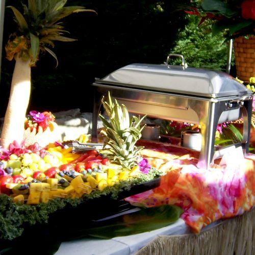 We do a Beautiful Luau Dinner Buffet