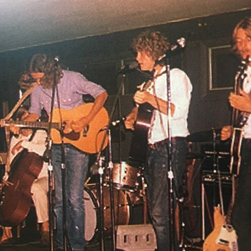 My high school band, Big Lost Rainbow, on our first U.S. tour. That's me on guitar with the long hair!