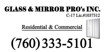 Avatar for Glass & Mirror Pros, Inc. Desert Hot Springs, CA Thumbtack