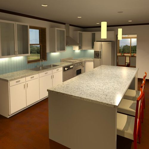 Interior 3D Modeling and Rendering for new kitchen in Chicago