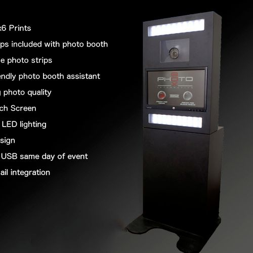 Advanced and Highly professional Photo Booth. Sleek and great looking