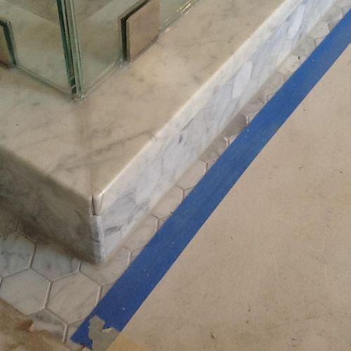 broken marble corner