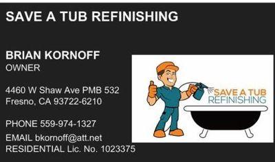 Avatar for Save A Tub Refinishing Fresno, CA Thumbtack