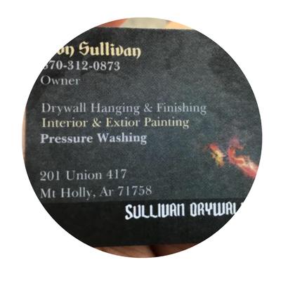 Avatar for Sullivan Drywall Mount Holly, AR Thumbtack