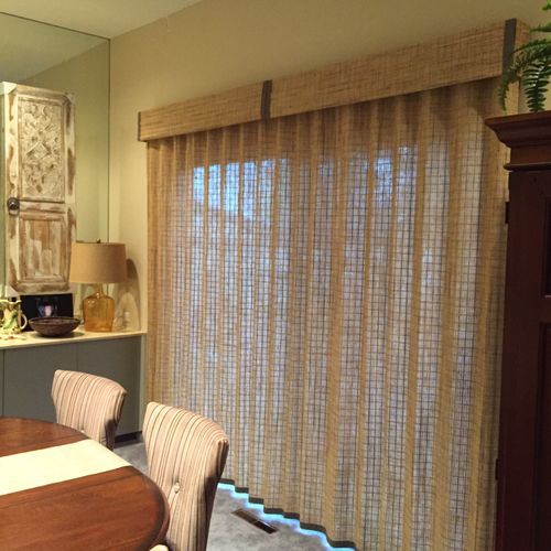 Woven Wood drapery from Hunter Douglas, the great way to add a rustic touch,