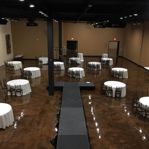 15,000 sq ft event venue - clean and setup
