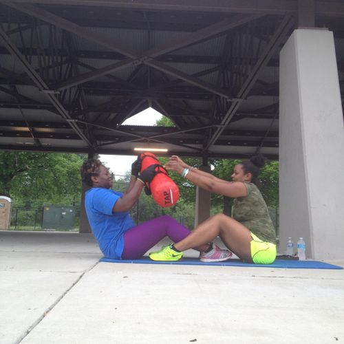 Trainer and Client Teamwork!