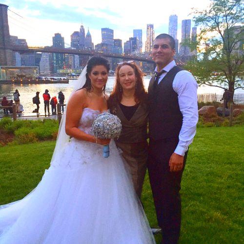The rain didn't stop their wedding in the park