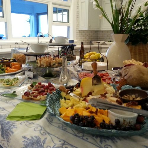 Another beautiful spread by our favorite affiliate, Pret Gourmet, at the Coastal Living showcase home in Coronado